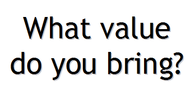words what value do you bring