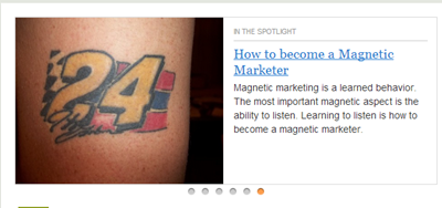 Article title link using an example how to become a magnetic marketer